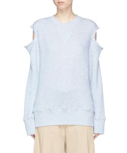 Bassike | Cold Shoulder French Terry Sweatshirt