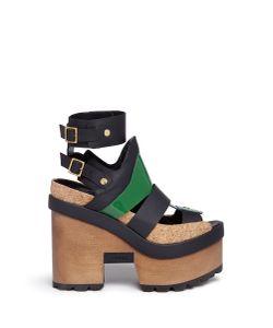 Sacai | X Pierre Hardy Colourblock Leather Platform Sandals