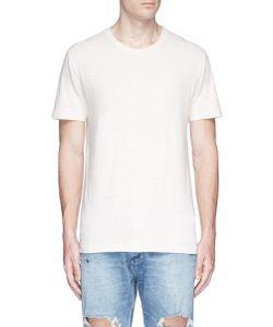 Simon Miller   Layne Slub Silk-Cotton T-Shirt