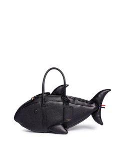 Thom Browne   Shark Pebble Leather Bag