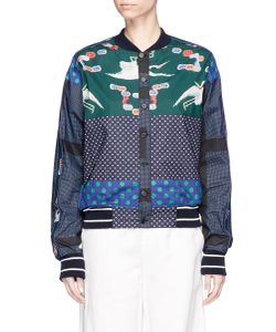Pierre-Louis Mascia | Diomepape/Sx Mixed Print Bomber Jacket