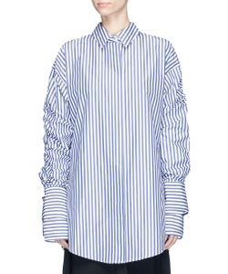 Strateas Carlucci | Veil Macro Double Layer Sleeve Stripe Shirt