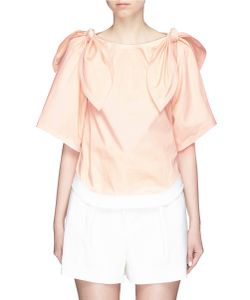 Chloé | Detachable Knotted Sleeve Cotton Twill Top