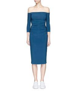 Norma Kamali | Ruched Waist Off-Shoulder Dress