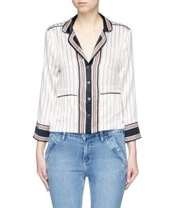 Equipment | X Kate Moss Lake Stripe Print Silk Pyjama Shirt