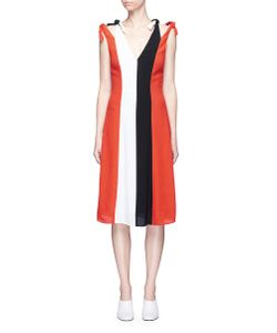 Rosetta Getty | Colourblock Knot Strap Dress