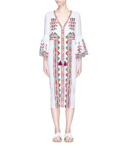 Figue | Minette And Ethnic Stripe Embroidered Dress