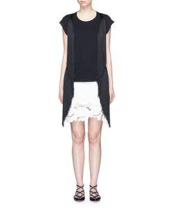 Giamba | Fringe Side Cotton T-Shirt