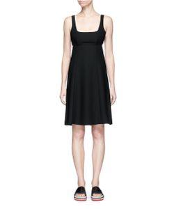 T by Alexander Wang   Cutout Back Crepe Midi Dress