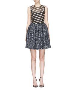 Jourden | Confetti Fil Coupé And Leopard Jacquard Dress