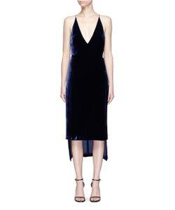 Dion Lee   Fine Line Velvet High Low Camisole Dress