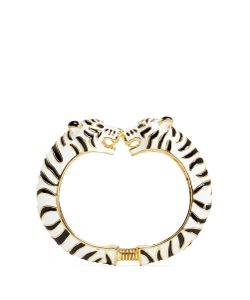 Kenneth Jay Lane | Enamel Double Tiger Plated Cuff
