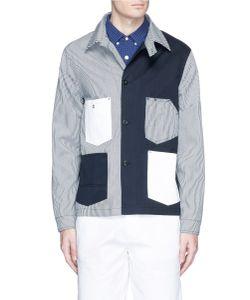 Maison Kitsuné | Stripe Patchwork Worker Jacket