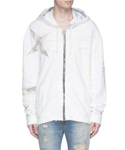 Faith Connexion | Star Patch Bleached Zip Hoodie
