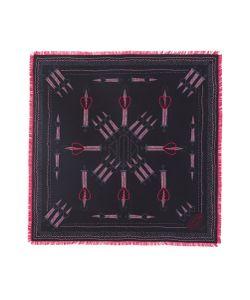 Valentino | Love Blade Print Fringed Silk Scarf