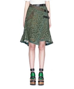 Sacai | Guipure Lace Belted Wrap Skirt