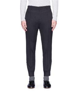 Wooyoungmi | Zip Cuff Pintucked Hopsack Pants