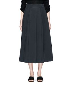 The Row | Kanu Pleated Twill Skirt