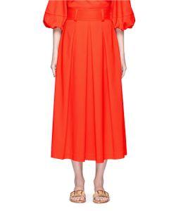 Tibi | Agathe High Waist Pleated Midi Skirt