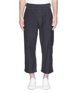 Comme Des Garçons Homme Plus | Front Belt Cropped Wide Leg Pants