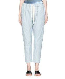 Bassike | Relaxed Pant Ii In Woven Slub Cotton-Linen