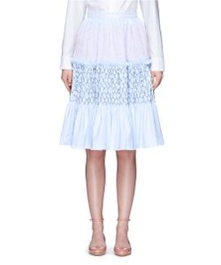 Jourden | Stripe Smocked Tiered Oxford Skirt