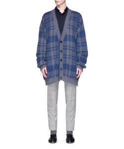 Wooyoungmi | Check Plaid Jacquard Oversized Cardigan