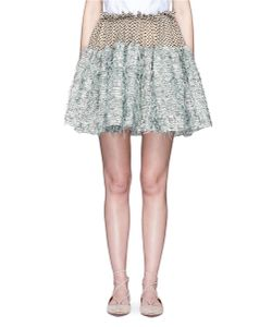 Jourden | Frayed Gauze Dot Embroidered Tulle Skirt