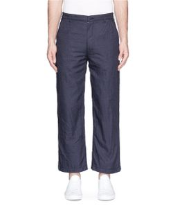 Comme Des Garçons Homme Plus | Wide Leg Cropped Denim Pants