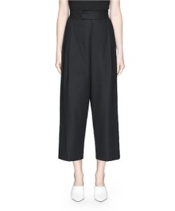 Co | Crossover Cotton Wide Leg Pants