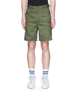 Facetasm | Stripe Rib Knit Trim Cargo Shorts