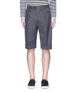 Wooster + Lardini | Double Pleated Wool Hopsack Shorts