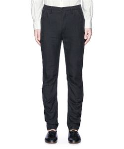Ziggy Chen | Ruched Linen Twill Pants