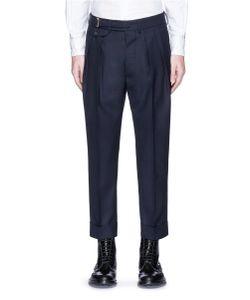 Wooster + Lardini | Double Pleated Wool Hopsack Cropped Pants