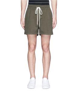 Bassike | Drawstring Twill Shorts