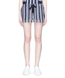 Lemlem | Edna Embroidered Drawstring Waist Stripe Shorts