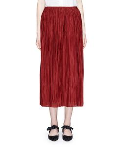 The Row | Juri Plissé Pleated Silk Skirt