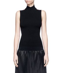 MS MIN | Low Back Turtleneck Knit Top