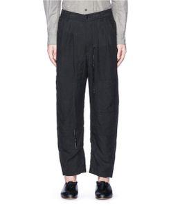 Ziggy Chen | Patchwork Linen Curved Pants