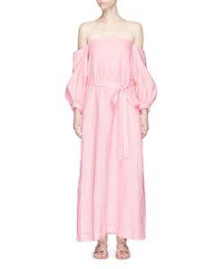Lisa Marie Fernandez | Rosie Off-Shoulder Belted Linen Maxi Dress