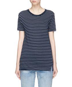 Bassike | Stripe Organic Cotton T-Shirt