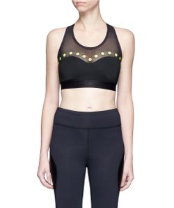 Monreal London | Cascade Eyelet Mesh Sports Bra