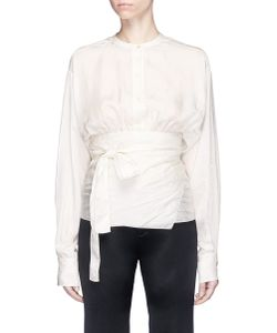 MS MIN | Wrap Waist Crinkled Top