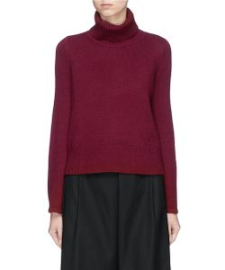 Co | Flared Sleeve Wool-Cashmere Turtleneck Sweater
