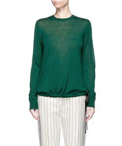 Victoria, Victoria Beckham | Drawstring Ribbon Waist Wool Sweater