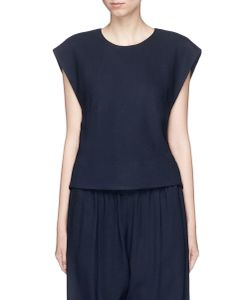 Bassike | Cropped Piqué Sleeveless Top