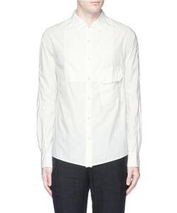 Ziggy Chen | Bib Front Cotton Poplin Shirt