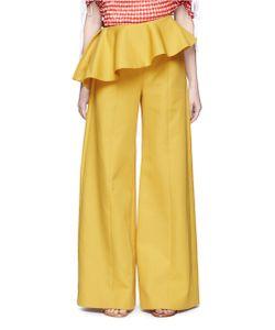 Rosie Assoulin | Bearded Iris Asymmetric Peplum Wide Leg Pants