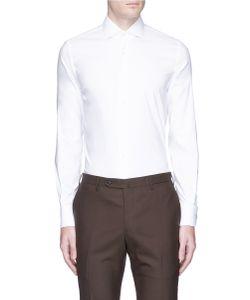 Lardini | Cufflink Slim Fit Twill Shirt
