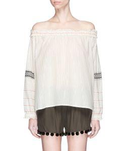 Lemlem   Zana Stripe Off-Shoulder Top